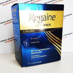 Regaine manner Регейн для мужчин, 3 по 60 мл, Германия